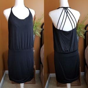 •Athleta• Black Strappy Dress